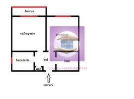 Apartament cu 2 camere Decomandat in Pacurari