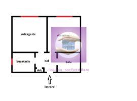 Ap cu 2 camere decomandate in Podu Ros pe etaj intermediar