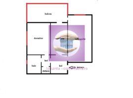 2 camere etaj intermediar, zona Garii