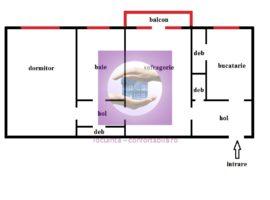 Apartament cu 2 camere semidecomandat 3 debarale in Podu Ros