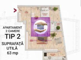 Apartament cu 2 camere finalizate in bloc nou zona Centrala