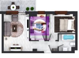 Apartament 2 cam bloc nou Bucium