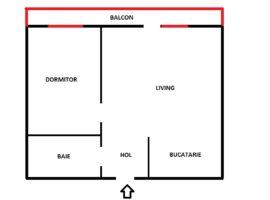 Apartament cu 2 camere cu plata in rate incepand cu 258 Euro/luna